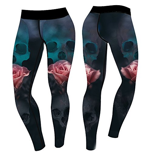 4AmazINK People Skull Rose Leggings, Tattoostyle Leggings, Tattoo Leggings, 4AP von 4AmazINK People