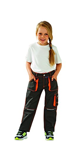 6112 Planam Junior Bundhose oliv/orange von Planam