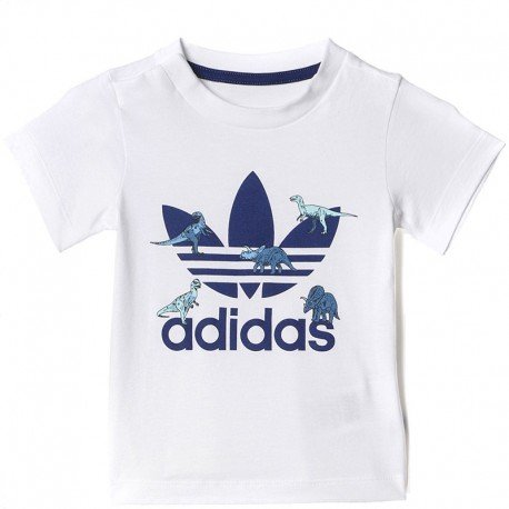 adidas Originals Adidas Originals T-Shirts - Adidas Originals I FR TRF TEE - WHITE/NIGHT SKY von adidas Originals 4056564453062