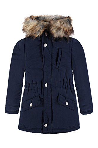 Bellybutton Kids Bellybutton Kids Baby-Mädchen Regenjacke Parka 1/1 Arm m. Kapuze, Blau (Black Iris 3800), 92 von Bellybutton Kids 4055592232182