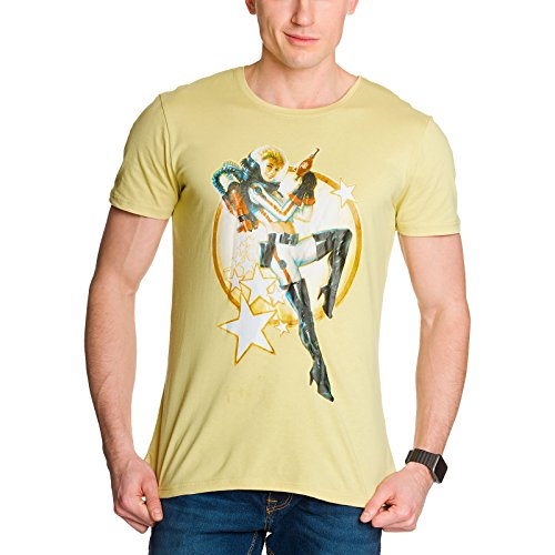 Fallout 4 Herren T-Shirt Nuka Cola Pin-Up Beige Baumwolle von Fallout