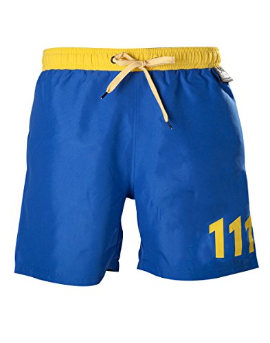 fallout Fallout 4 Men's Vault 111 Swimming Shorts Trunks - Large | Blue/Yellow von FALLOUT 8718526221787