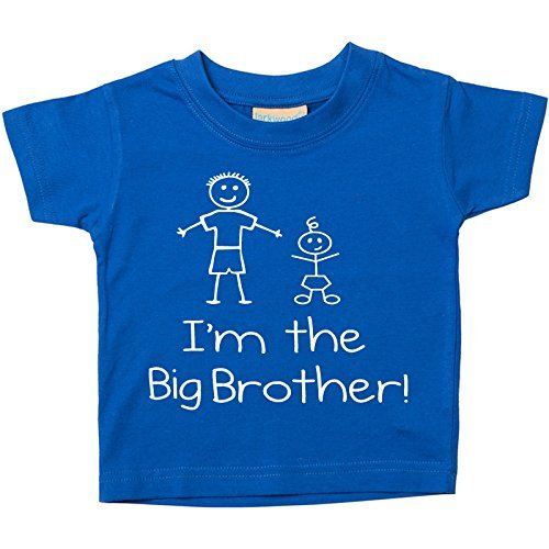60 Second Makeover Limited Kinder T-Shirt 'I'm The Big Brother' in Blau Erhältlich in Gr. 0-6 Monate bis 5-6 Jahre von 60 Second Makeover Limited