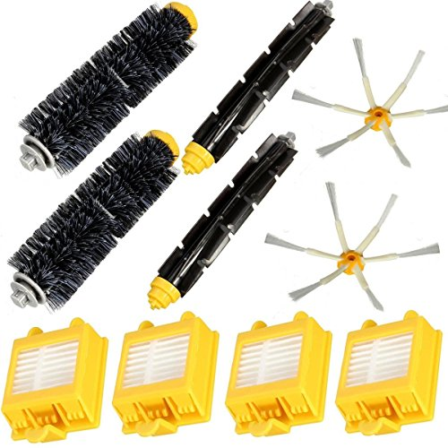365 Saver Saver 10er Filter Brush Pack Big Kit für iRobot Roomba 700 Serie 6 Streit 760 770 780 von 365 Saver 5057647029531