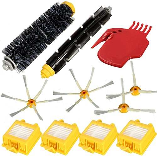 365 Saver Saver 11Pcs Filter Brush Pack Kit für iRobot Roomba 700 Serie 770 780 785 760 790 von 365 Saver 5057647021771