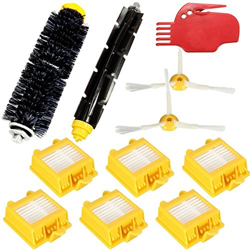 365 Saver Saver 11pcs Staubsaugerfiltern Brush Pack Kit für iRobot Roomba 700 Serie 760 770 780 790 von 365 Saver 5057647022969