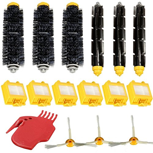 365 Saver Saver 16Pcs Hepa Filter Brush Pack Ersatz Kit 3 Armed für iRobot Roomba 700 Serie 760 770 780 von 365 Saver 5057647058043