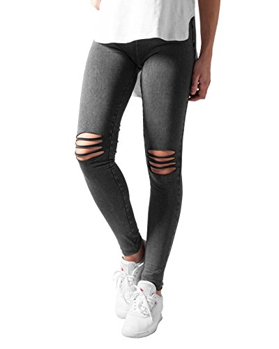 Urban Classics Urban Classics TB1276 Damen Ladies Cutted Knee Leggings von Urban Classics