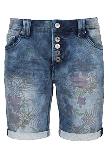Urban Surface Urban Surface Damen Jeans Bermuda-Shorts mit Allover Blumenprint | Sweat-Shorts | Bequeme kurze Hose von Urban Surface