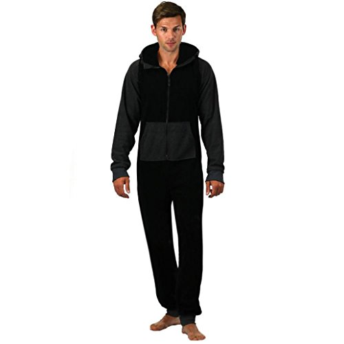 bobo4818 Herren Einteiler Strampelanzug College Sweat Jumpsuit Jogging Training von bobo4818