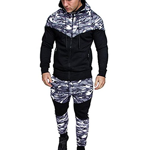 bobo4818 Herren Einteiler Strampelanzug Sweat Jogging Training Sports Suit Tracksuit von bobo4818